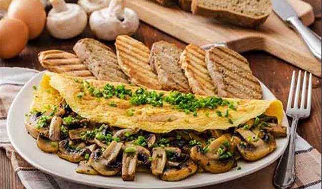 املت قارچ و پنیر یک خوشمزه ساده + طرز تهیه