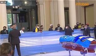 مراسم وداع با مارادونا در کاخ ریاستجمهوری آرژانتین + فیلم