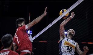 پیروزی تیم ملی  والیبال ایران در مقابل ایتالیا