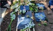 همسر و فرزندان استاد شجریان در مراسم تدفین اسطوره آواز ایران + عکس