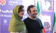 واکسیناسیون هدایت هاشمی بازیگر سریال پایتخت و همسرش با واکسن ایرانی